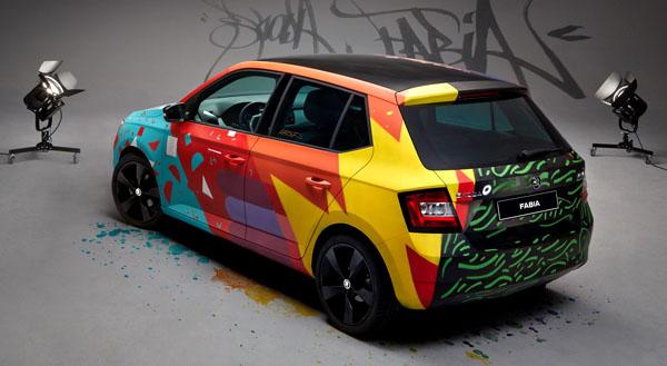 skoda-fabia-street-art-rear